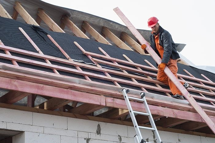Naperville roofing contractors at work