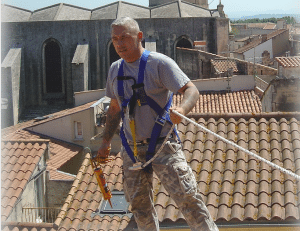 roofing contractor on the roof